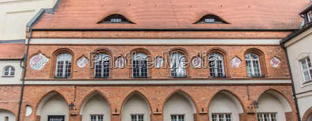 detail of the historic town hall