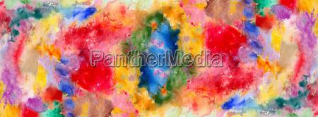aquarellfarbenflecke und pinselstriche