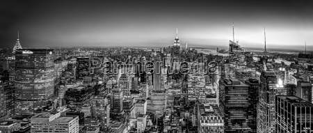 new york city skyline with urban