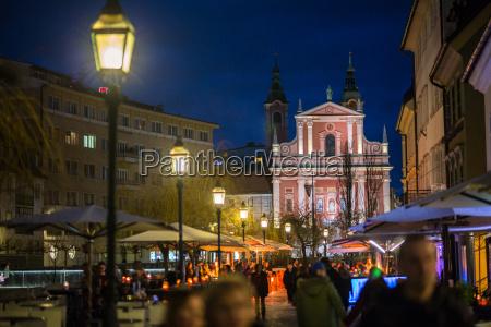ljubljana capital of slovenia at night