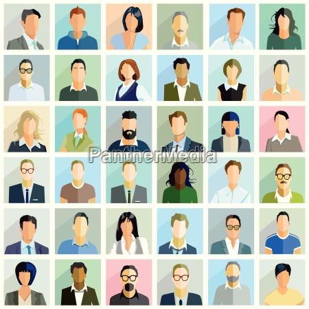 group people portrait illustration