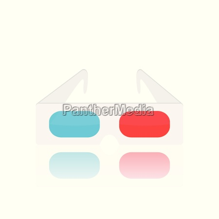 3d glasses illustration
