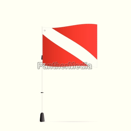 scuba flag illustration