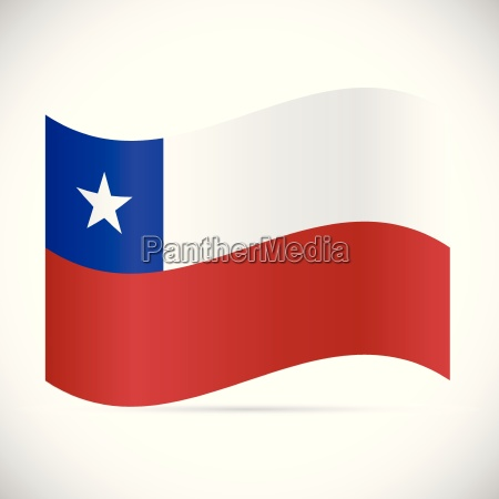 chile flag illustration