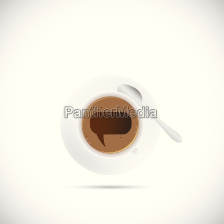 coffee cup chat bubble illustration