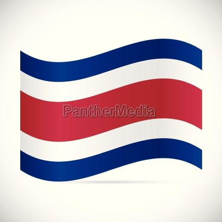 costa rica flag illustration