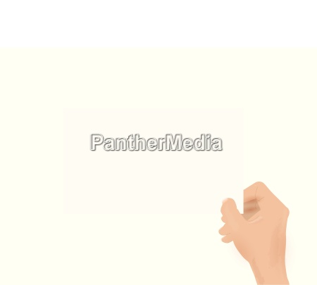 hand holding card illustration