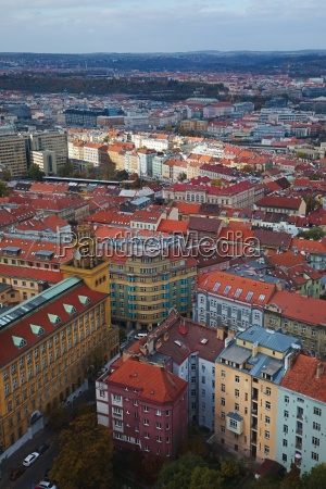 prague viewed from above