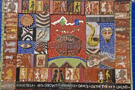 afrikanische kunst township provinz westkap