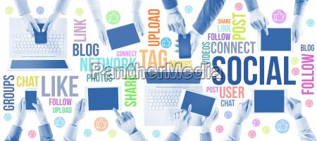 soziale netzwerkgemeinschaft