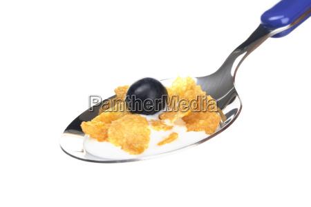 cornflakes mit heidelbeere