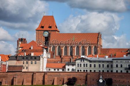 mittelalterliche altstadt von torun city skyline