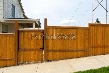 house garden backyard wood fence with
