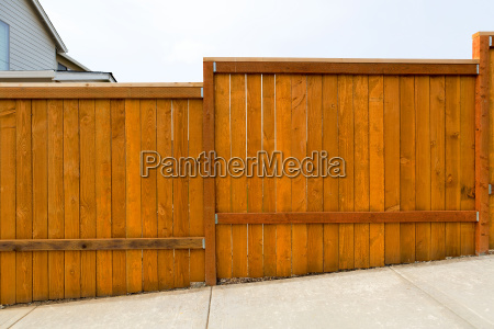 new garden backyard wood fence construction