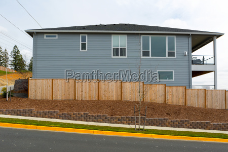 new garden wood fence around house