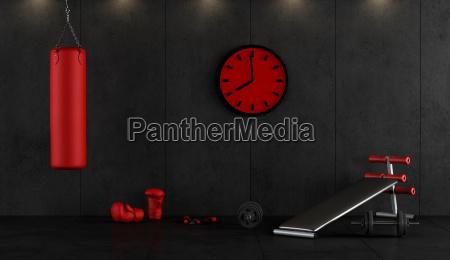 rote und schwarze boxengymnastik