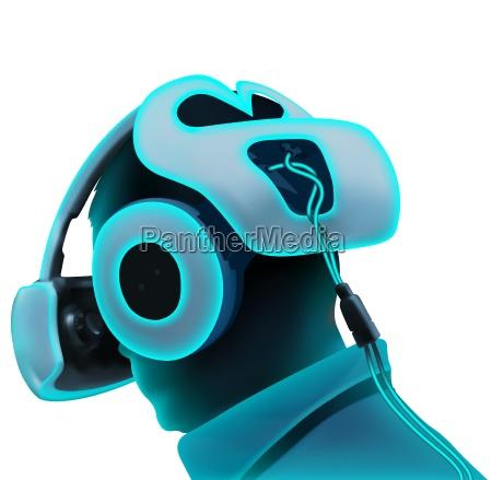 wissenschaft zukunft neon technologie headset wirklichkeit