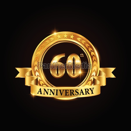 60 jahre feier logotyp goldenes jubilaeums