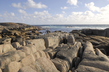 rocky coast at cape leeuwin at