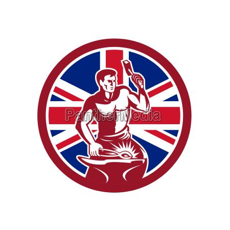 britische schmied union jack flag icon