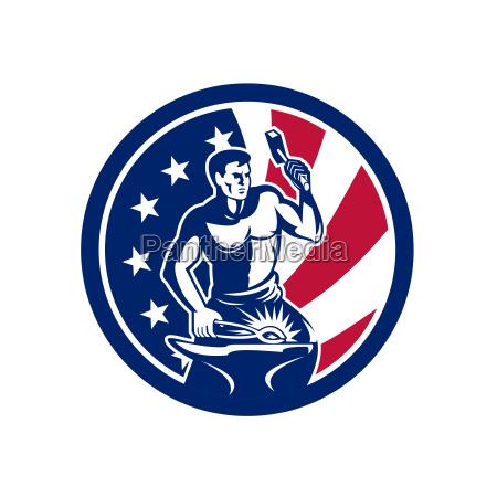 amerikanische farrier usa flagge ikone