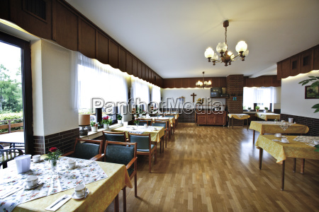 covered dining room in retirement home