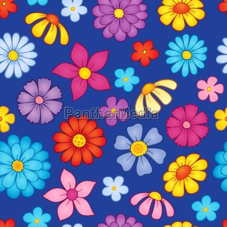 seamless background flower theme 8
