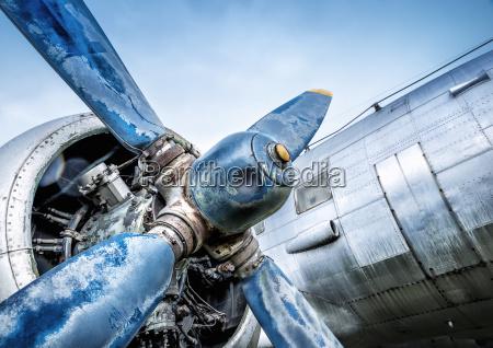 propeller of an historic aircraft