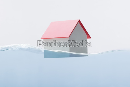 house model floating on water
