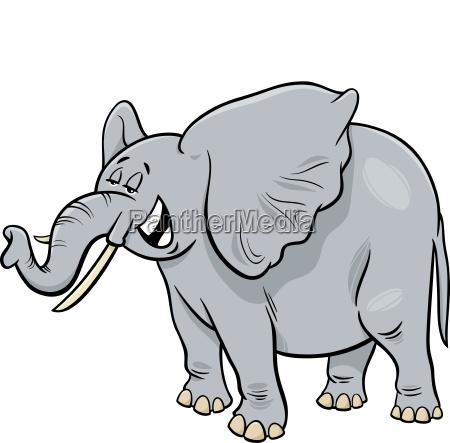 african gray elephant animal cartoon character