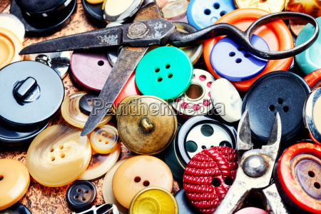 background of sewing buttons