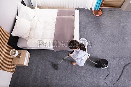 haushaelterin die teppich mit staubsauger saeubert