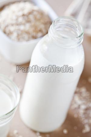 bottle of oat milk
