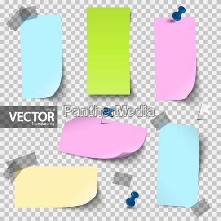 empty colored papers with accessories with