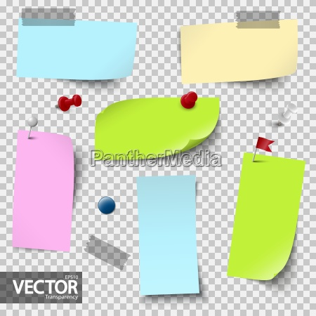 empty papers colored with accessories with