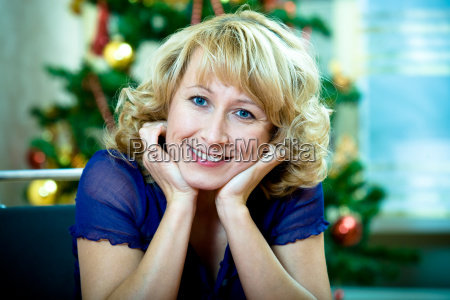 woman in the living room with