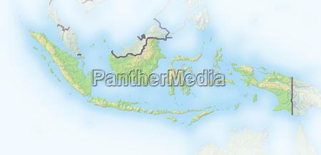 indonesien schattierte reliefkarte asien