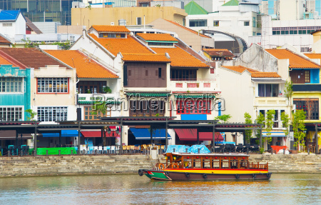 tourist district boat quay singapore