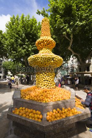orangenbrunnen in soller mallorca
