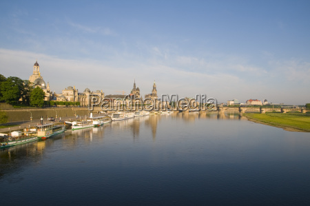 view over the elbe on baroque
