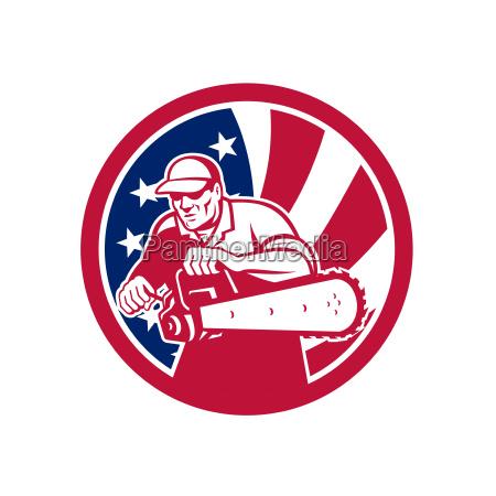 american lumberjack usa flag icon