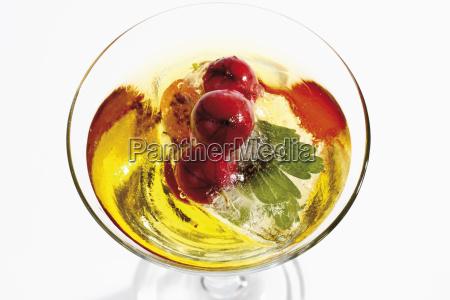 frozen gooseberries in the drink