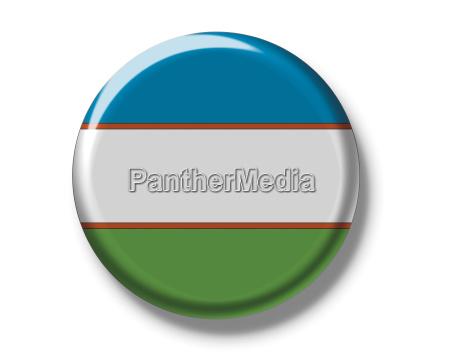 button flagge usbekistan