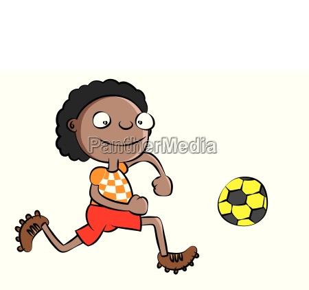 lustige schwarze schule spielen fussball