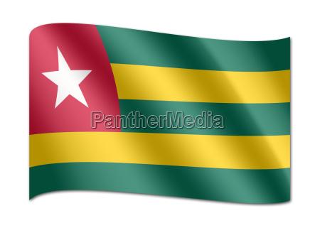 nationalflagge togo afrika