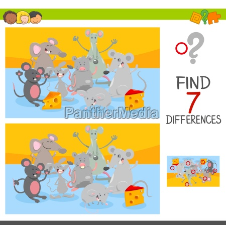 find differences game with mice animal