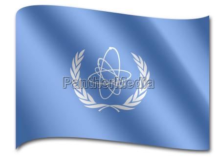 flagge internationale atomenergieorganisation iaeo