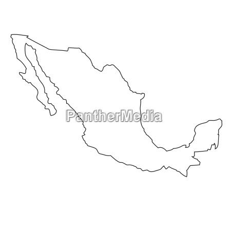 umriss karte von mexiko