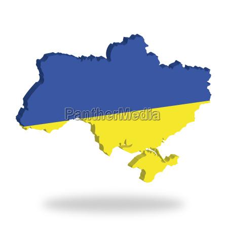 umriss und flagge der ukraine