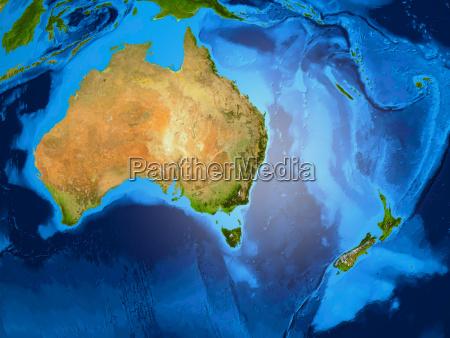 erdkugel zeigt ozeanien australien